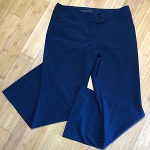 The Limited Drew Fit flare trousers navy 10S